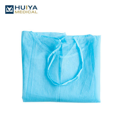 Disposable non-woven isolation gown