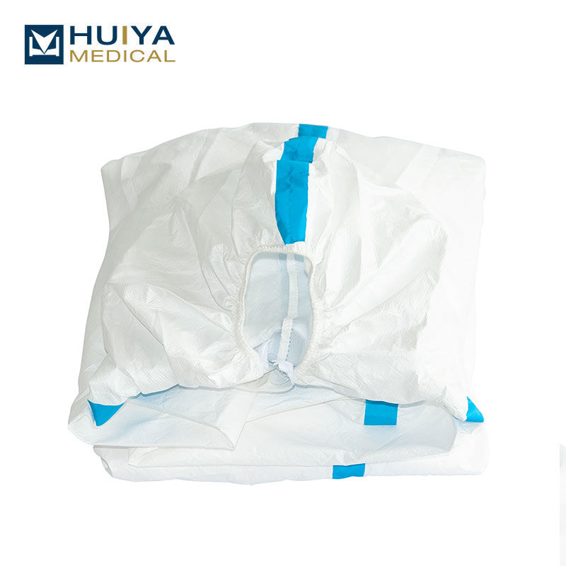 Disposable Protective clothing with blue stripe Coverall Suit  HY-8201D