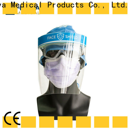 plastic face shields & disposable medical gown